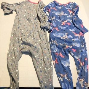 Carter's Pajamas - 3/$10 2T footed pajamas girls unicorn fairy 24 lot